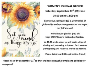 Women's Journal Event