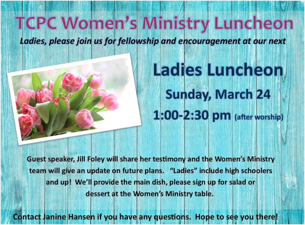 Women's Ministry Luncheon