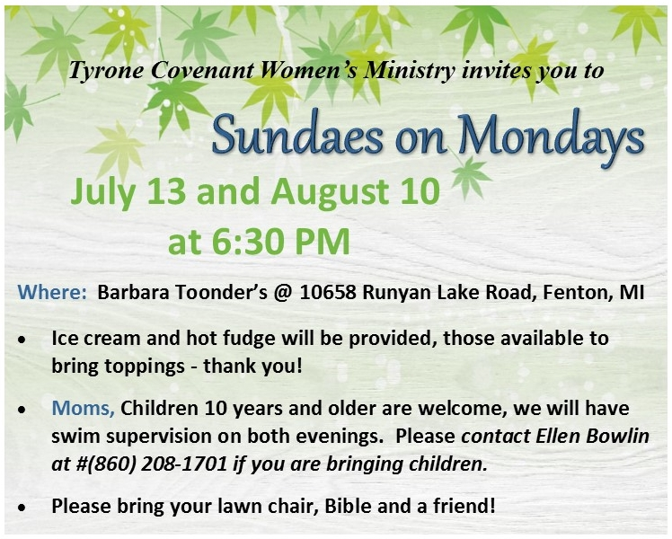 Sundaes on Mondays @ Barb Toonder's